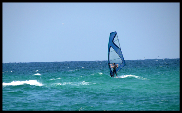 Windsurfer Out-running Hurricane Isaac